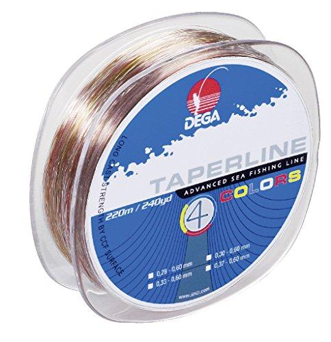 Dega TAPER LINE 4-color SCHLAGSCHNUR 4-farbig (Ø 0.33 - 0.60 mm)