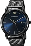 Emporio Armani Men's Japanese-Quartz Watch with Stainless-Steel Strap, Grey, 22 (Model: AR11053)
