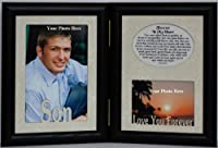 5x7 SON & FOREVER IN MY HEART Poem ~ HINGED Double Memorial/Bereavement/Condolence/Sympathy/Tribute/Funeral Keepsake Picture Photo Frame (BLACK) [並行輸入品]