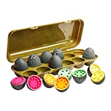 Ivy Step Toy Eggs for Toddlers with Dinosaur Theme. Count & Match Educational Egg Toy to Teach Counting, Color Recognition and Motor Skills