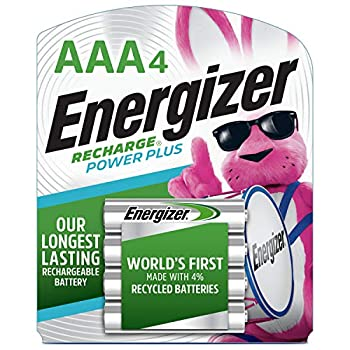 Energizer Rechargeable AAA Batteries NiMH 800 mAh Pre-Charged 4 count  Recharge Power Plus