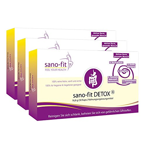 sano-fit DETOX von Dr. Jokar 3-Monate (3x30 Kapseln) zur Entschlackung mit natürlichen Inhaltstoffen. Deutsche Herstellung.