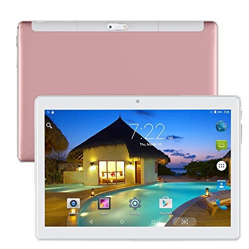10 inch Tablet PC Quad Core Unlocked Dual SIM 3G Android Phablet 10.1' IPS 2.5D Screen 32GB Built-in WiFi GPS (Rose Gold)