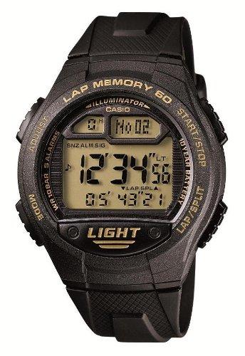 [カシオ] 腕時計 スポーツギア LAP MEMORY 60 W-734J-9AJF ブラック