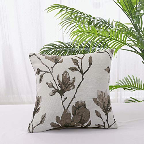 VIKOCELL Flower and plant fluffy and soft decorative square pillowcase, cotton linen pillowcase 45cmx45cm, suitable for indoor decoration-Flower 3_45cmx45cm cushion cover + pillow core