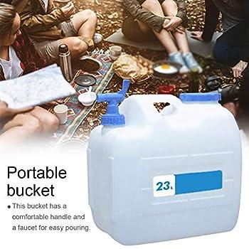 Jerrican Alimentaire Camping avec Un Robinet 23L, Bidon d'eau avec Bec Verseur en Plastique Epais pour Le Transport d'eau, Parfait pour Voyage Voiture Maison