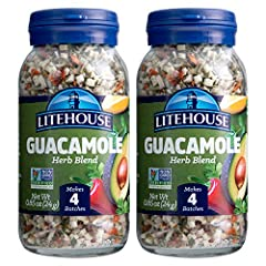 Each jar creates four batches of Guacamole. Package includes 2 jars total. Substitute one tablespoon of freeze-dried herb for one tablespoon fresh. Our Freeze Dried Guacamole Herb Blend is also great on eggs, burrito bowls or chicken. Litehouse herbs...