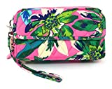 Vera Bradley All In One Cross-body Bag for iPhone 6 with Updated Solid Interiors (Tropical Paradise with Blue Interiors)