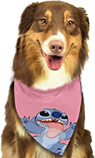 Custom Made Dog and Cat Bandana Plaid Triangle Bibs Scarf,Soft Cotton Accessories Neckerchief for Pets-Disney Wallpaper Lilo Y Stitch Tumblr Cartoon Pattern Printing Colorful