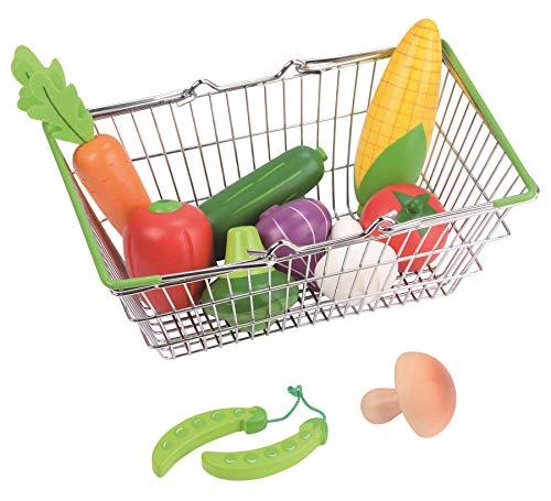 Lelin Juguete cesta de la compra de verduras conjunto creativo simulación jugar juguetes para niños y niñas