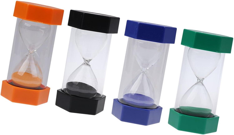 MagiDeal 4 Stück Sicherheit Fashion Sanduhren 10 Minuten Sanduhr ( Schwarz, Blau, Grün, Orange ) B071RRKKZ8 | Qualität und Quantität garantiert