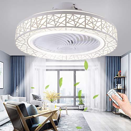 Ventilador De Techo Con Iluminación LED Moderno Fan Luz De Techo Velocidad De Viento Ajustable Regulable Control Remoto Ventilador 40W Lámpara De Techo Para Dormitorio Sala De Estar Comedor (White)
