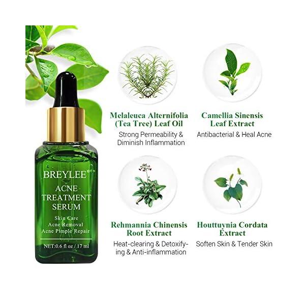 [category] Acne Treatment Serum, BREYLEE Tea Tree Clear Skin Serum for Clearing