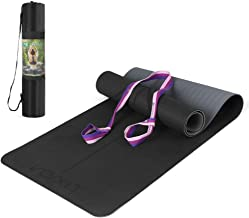 Lixada Yoga Mat TPE Pilates Mat Antislip Oefenmat Met Body Alignment Lines Draagriem Voor Vloer Workout Fitness Hot Yoga 1...