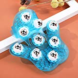 Portable Massage Glove Mitt Silicon Palm Shaped Stress Relax Massager with 360 Rotating Roller Ball for Cellulite Beauty Body Care (Random Colour)