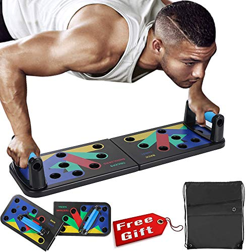 GRX-ZNLJT Opvouwbaar push-up rek systeem push-up bracket board draagbaar multifunctioneel spiertrainingssysteem met standaard fitnessapparaat indoor arm training apparatuur outdoor buikspieren