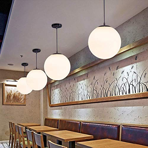 Lámpara de techo,Bubble Ball Candelabro Simple Bola De Cristal Esférico Single-Head Candelabro Personalidad Restaurante Bar Tienda De Ropa Araña Pasillo E27 Tornillo Convencional De 25Cm De Diámet
