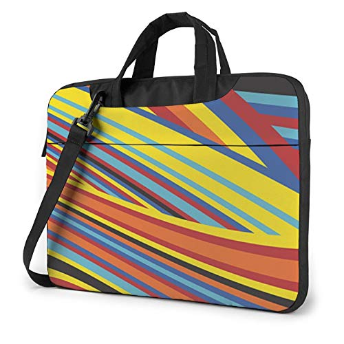 Colorful Stripes Unisex Laptop Shoulder Bag Messenger Case for Computer Briefcase Carrying Sleeve