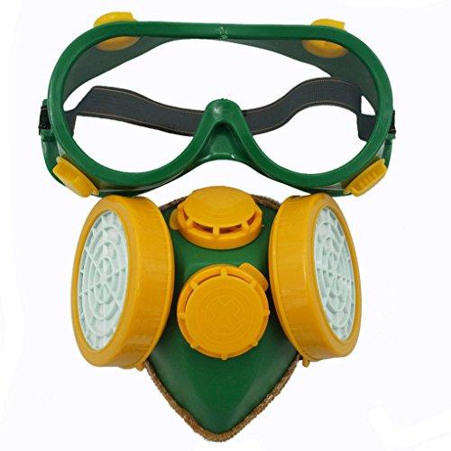 SMARSTAR Maschera respiratoria cartuccia singola/doppia Gas chimica industriale antipolvere vernice + occhiali/occhiali Set