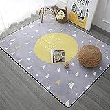 Insun Alfombra para Salón Habitación Infantil Decoración Interior Alfombra Antideslizante Lavable Amarillo 100x150cm