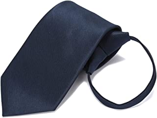 Men's Solid Color Polyester Tie Striped Tie Formal Multi-Color Options, Men's Gift, 50 × 7.5cm, Zippered CQQO (Color : E)