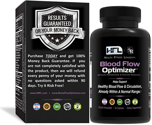 Blood Flow Optimizer by Dr Sam Robbins | Blood Flow and Circulation |Made in USA| Contains Nattokinase, Ginger, Green Tea Extract, White Willow Extract and Other Vitamins and Minerals | 60 Capsules