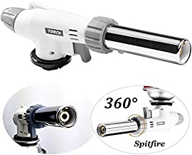 Winshope Butane Torch Kitchen Culinary Torches Chef Professional Cooking Burner With 360°Rotating Fire For Creme,Brulee,Baking,Soldering ,Camping
