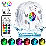 LOFTEK Poolbeleuchtung Unterwasser Led Licht Wasserdichte Multifarbige RGB Beleuchtung mit RF...