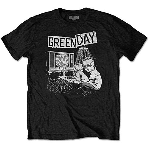 Rock Off Green Day T Shirt TV Wasteland Band Logo Nuevo Oficial De Los Hombres Size L