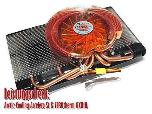 Zerotherm GX810 - Ventilador de PC (Graphics Card, Enfriador, 29,9 dB, Nvidia GeForce 6600 Series(Except 6600 AGP) Nvidia GeForce 7600 GS Series Nvidia GeForce 8500, Aluminio y Cobre, 188 g)