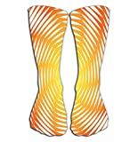 JACARTER PUSAUL Thin High Socks 19.7'(50cm) High Graduated Compression Long Socks For Men's Women And Girls design sunny swirl motion illusion background abstract strip torsion colorful backdrop art