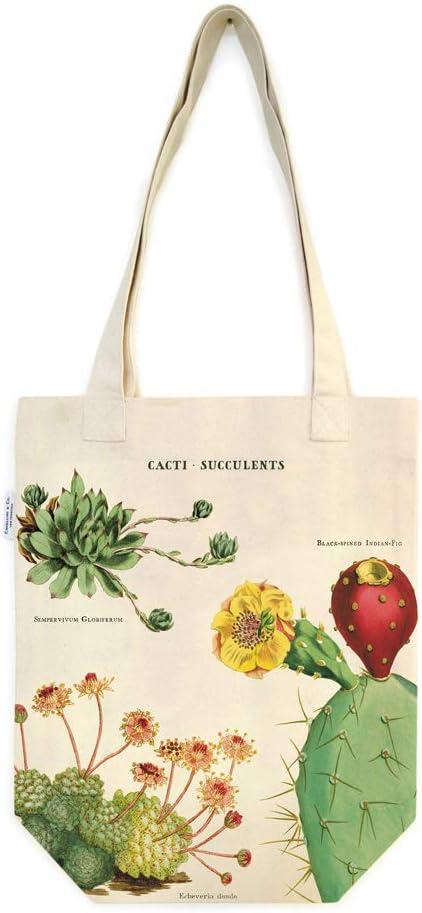 Cavallini Papers & Co., Inc. Cacti & Succulents Tote Bag