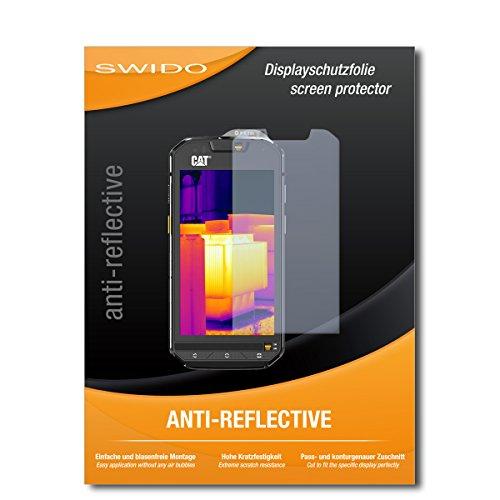 SWIDO Schutzfolie für Caterpillar Cat S60 [2 Stück] Anti-Reflex MATT Entspiegelnd, Hoher Festigkeitgrad, Schutz vor Kratzer/Bildschirmschutz, Bildschirmschutzfolie, Panzerglas-Folie