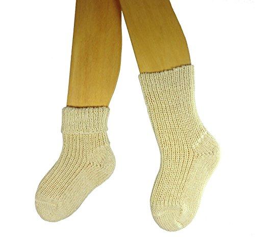 Shimasocks Kinder Socken 100prozent Schurwolle, Größe:31/34 bzw. 122/128, Farben alle:natur