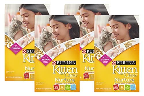 PACK OF 4 - Purina Kitten Chow Nurture Cat Food 3.15 lb. Bag