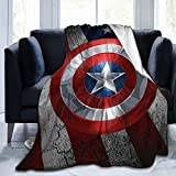 Yesbddfbc Captain-America Blanket Super Soft and Comfortable Microfiber Fleece Blanket, Suitable for Household Sofas, Beds and Sofas, Gifts 80'X60'