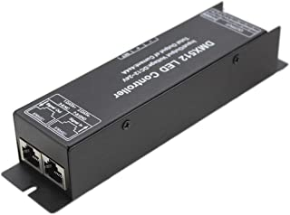 JOYLAND DMX512 LED Decoder Controller, 3x4A DC 12~24V 144W Digital Display DMX Driver for RGB LED Strip or Lights
