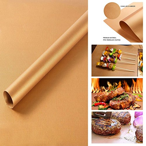 3pcs reprise Using non-Stick Barbecue Grill Mat Easy Bake Cook /& Clean Cuisson Tapis