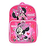 Minnie Mouse Girl's 16' Backpack W/Detachable Lunch Box, Pink, Size One Size