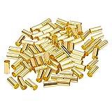 PandaHall Elite 150 STK. 10mm Säule Messing Rohr Perlen Ring Makramee Perlen Spacer Perlen mit 4,5mm Loch für DIY Nähen Handwerk & Makramee Wandbehang Pflanzenhalter Handwerk, Golden