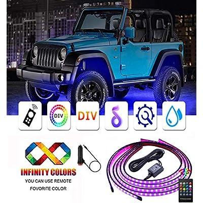 Car LED Underglow Strip Lights,4 Pcs Underbody ...