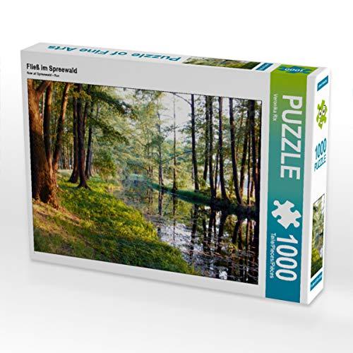 CALVENDO Puzzle Fließ im Spreewald 1000 Teile Lege-Größe 64 x 48 cm Foto-Puzzle Bild von Veronika Rix