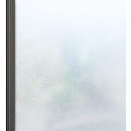 窓 めかくしシート 窓用フィルム 目隠し uvカット すりガラス調 断熱遮熱 水で貼る はがせる ガラスフィルム 飛散防止 外から見えない ホワイト 90x200cm