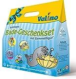 Valino Kinder Badespaß 6 tlg Geschenk set Knisterbad Badefarben uvm