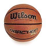Wilson, Pallone da basket, Reaction Pro, Arancione, Pelle sintetica, Misura 7, Uso all'interno e all'esterno, WTB10137XB07