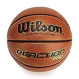 Wilson WTB10137XB07 Pelota de Baloncesto Reaction Pro Cuero sintético Interior y Exterior, Unisex-Adult, Naranja, 7
