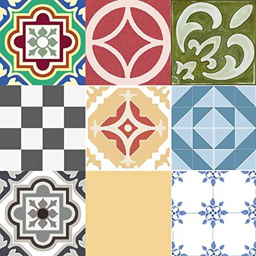 Con-Tact Brand Flra-12N026-06 - Vinilo calcomanía Decorativo y extraíble, Assorted Tiles, 30.5 x 30.5 cm, 1, 6