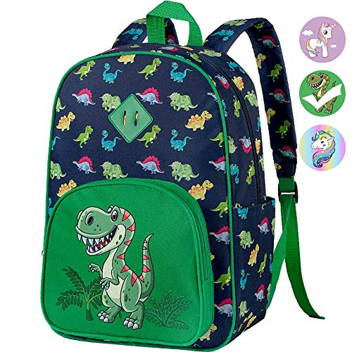 "Preschool Backpack Boys, 15"" Dinosaur Kindergarten Backpacks"