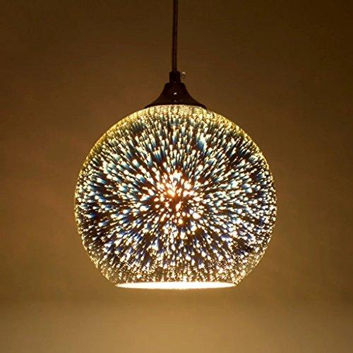 Moderno 3D Multicolor luces de techo de cristal creativo lámpara sombra lámpara minimalista arte colgante luces (Style B)