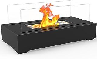 Regal Flame Indoor Outdoor Utopia Ventless Tabletop Portable Bio Ethanol Fireplace - Black